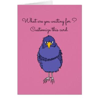 Tarjeta de felicitación divertida con el pájaro no
