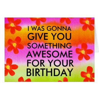 Tarjeta de felicitación divertida de cumpleaños