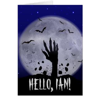 Tarjeta de felicitación divertida de Halloween