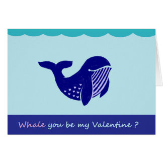 Tarjeta de felicitación divertida de la ballena