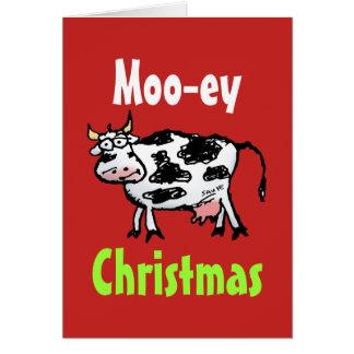 Tarjeta de felicitación divertida de la vaca del