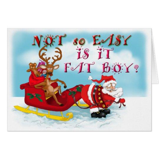 Tarjeta de felicitación divertida de Papá Noel