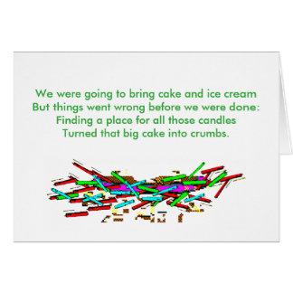 Tarjeta de felicitación divertida del cumpleaños