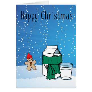 Tarjeta de felicitación divertida del navidad de