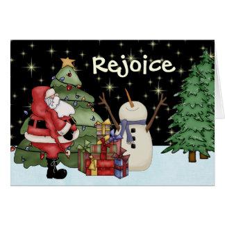 Tarjeta de felicitación divertida del navidad del