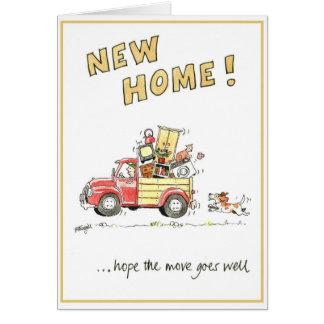 Tarjeta de felicitación divertida - nuevo hogar