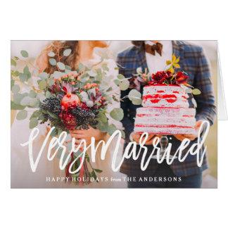 Tarjeta de felicitación doblada muy casada del día