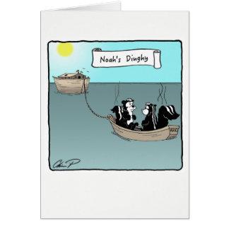 Tarjeta de felicitación: El bote de Noah