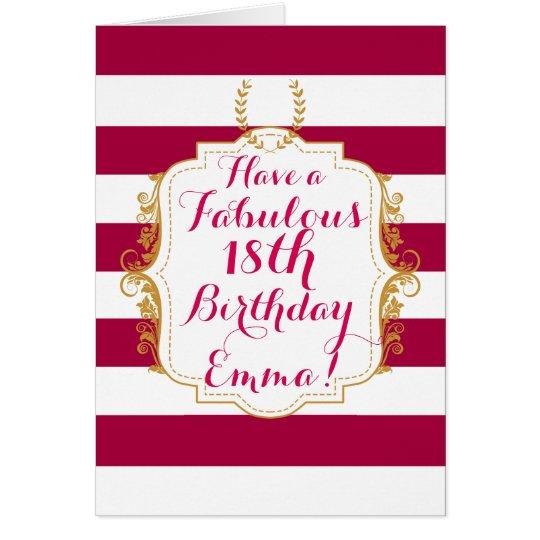 Tarjeta de felicitación elegante del cumpleaños