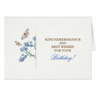 tarjeta de felicitación elegante hermosa del cumpl