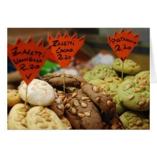 Tarjeta de felicitación en blanco de las galletas