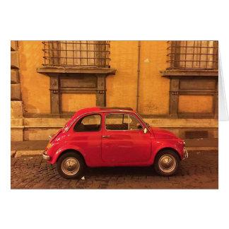 Tarjeta de felicitación en blanco - Italia Fiat