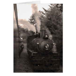 Tarjeta de felicitación escénica del ferrocarril