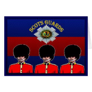 Tarjeta de felicitación escocesa de los guardias
