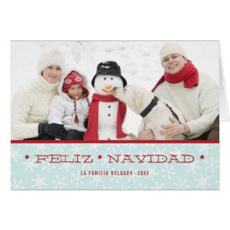 Tarjeta de felicitación española de la foto del