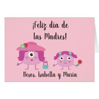 Tarjeta de felicitación española del día de madre