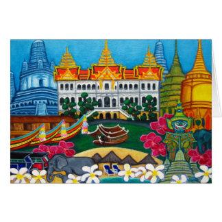 Tarjeta de felicitación exótica de Bangkok