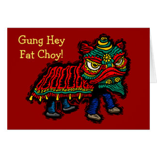 Tarjeta de felicitación ey gorda de Gung Choy