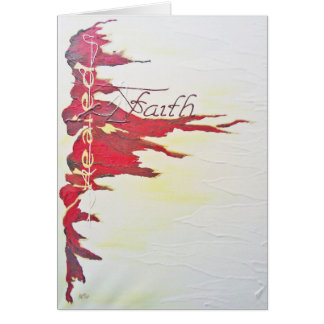 Tarjeta de felicitación - fe, curada