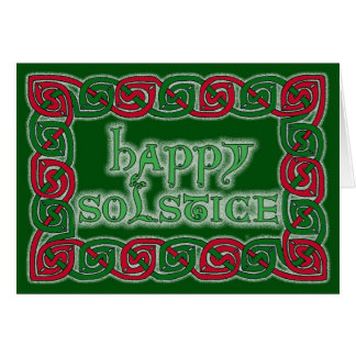Tarjeta de felicitación feliz céltica del