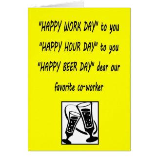 Tarjeta de felicitación feliz de Beerday del