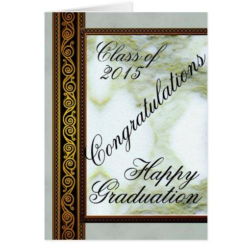 Tarjeta de felicitación feliz de la graduación