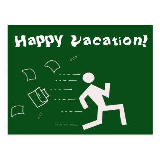 Tarjeta de felicitación feliz de las vacaciones postal