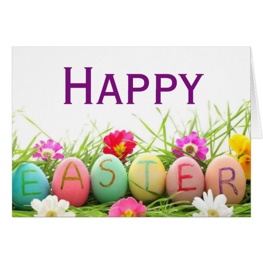 Tarjeta de felicitación feliz de los huevos de