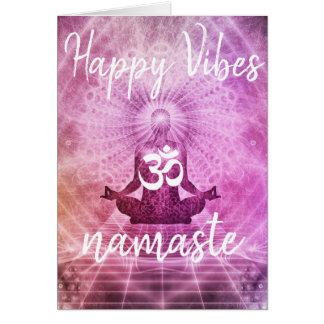 Tarjeta de felicitación feliz de Namaste OM de la