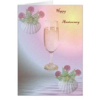 Tarjeta de felicitación feliz del aniversario
