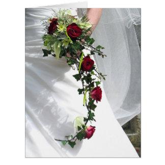 Tarjeta de felicitación feliz del boda