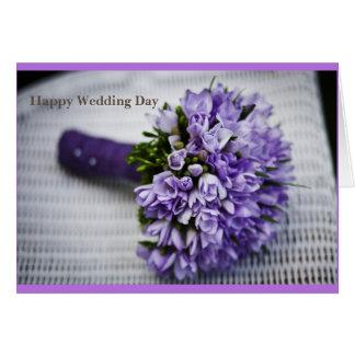 Tarjeta de felicitación feliz del día de boda