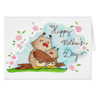 Tarjeta de felicitación feliz del día de madre de