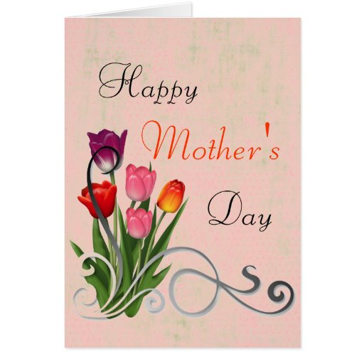 Tarjeta de felicitación feliz del día de madre del