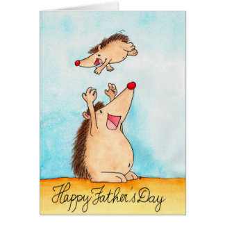 Tarjeta de felicitación feliz del día de padre de