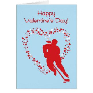 Tarjeta de felicitación (femenina) del hockey del