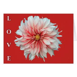 Tarjeta de felicitación ferviente del amor