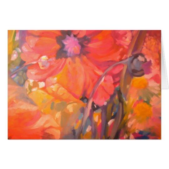 Tarjeta de felicitación Flor-En blanco
