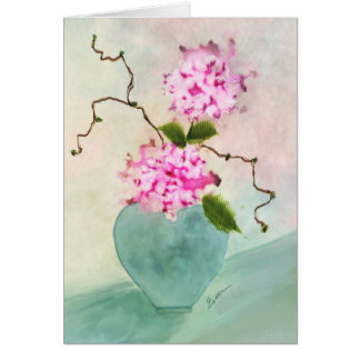 Tarjeta de felicitación floral de la acuarela de