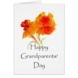 Tarjeta de felicitación floral del día de los