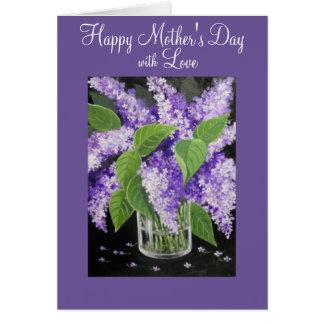 Tarjeta de felicitación floral del día de madre de