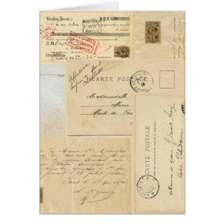 Tarjeta de felicitación francesa de la postal del