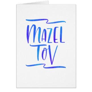 Tarjeta de felicitación fresca de Ombre Mazel Tov