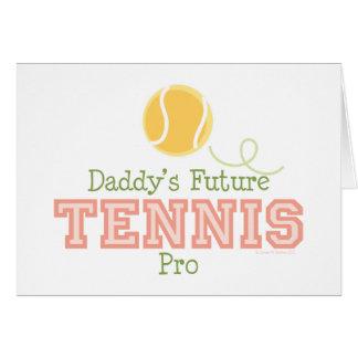Tarjeta de felicitación futura del tenis del papá