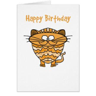 Tarjeta de felicitación - gato - feliz cumpleaños