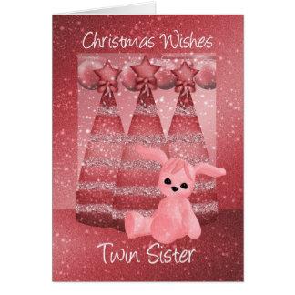 Tarjeta de felicitación gemela del navidad de la c