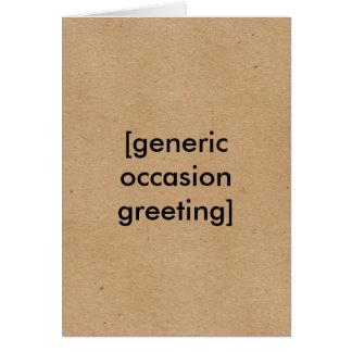 Tarjeta de felicitación genérica