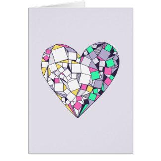Tarjeta de felicitación geométrica abstracta del