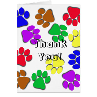 Tarjeta de felicitación - gracias, de mascota