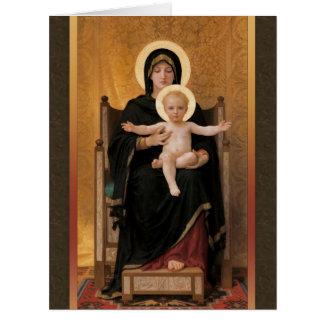 Tarjeta de felicitación grande de la Virgen y del